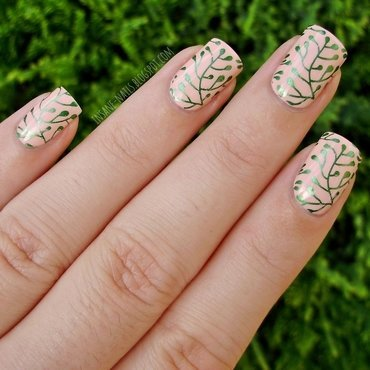 Metallic green botanical print 1 thumb370f