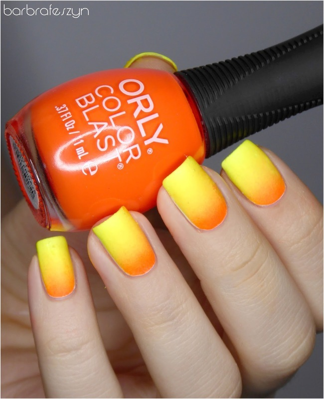 Fire gradient nail art by barbrafeszyn
