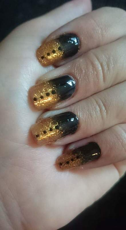 Goldilishues nail art by Sabina Salomonsson