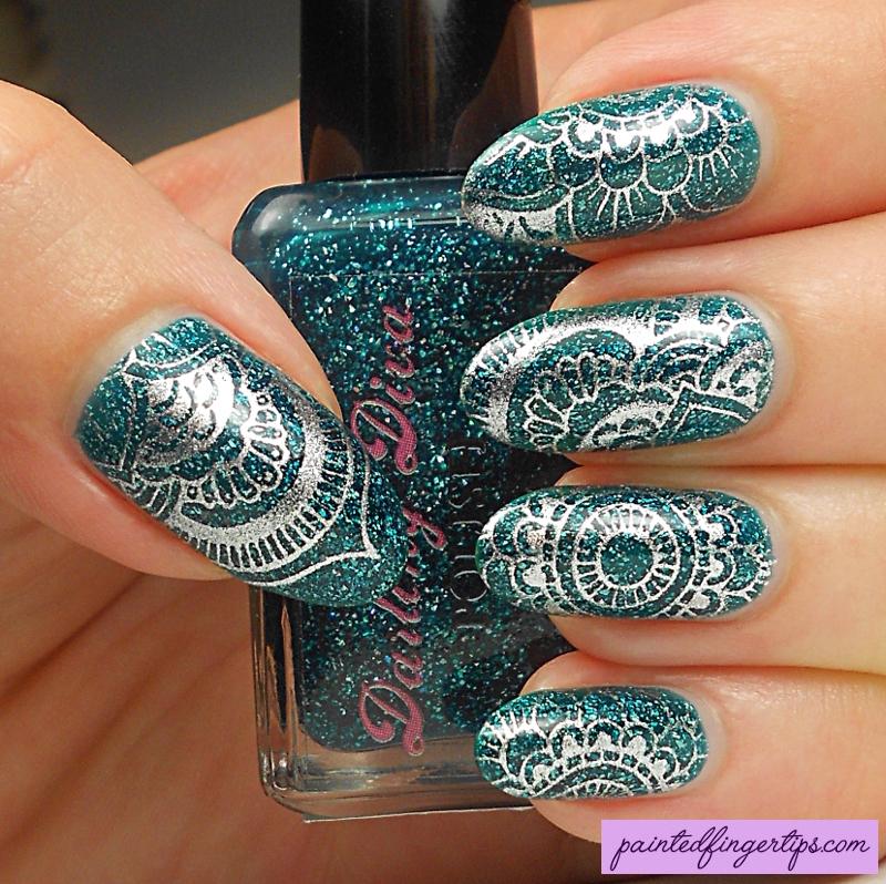 Mandala Stamping nail art by Kerry_Fingertips