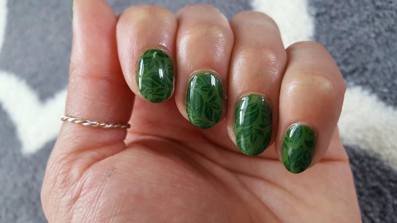 Green Thumb nail art by Alisha Worth