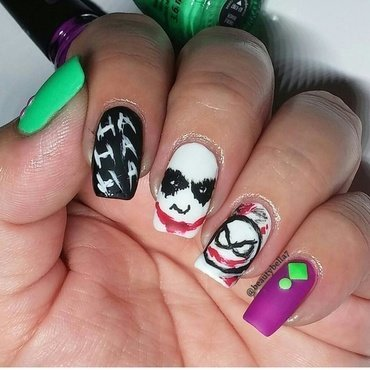 Why so serious?   nail art by Bellini Solis