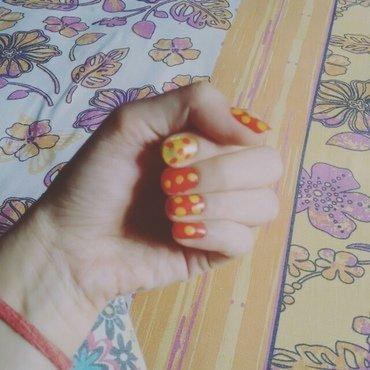 Polkis nail art by aishu93