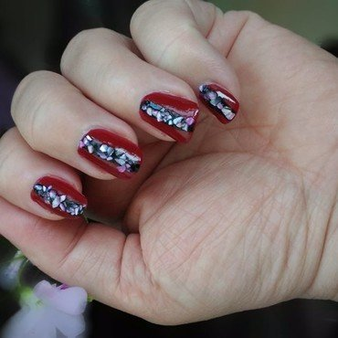 Red nights nail art by tigerlyly