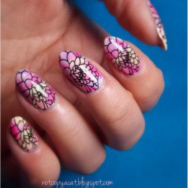Colourful petals nail art by notcopyacat