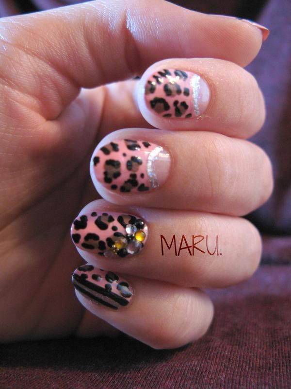 Luscious Leopard nail art by Martina