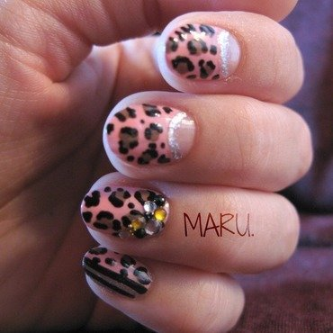 Luscious Leopard nail art by Martina