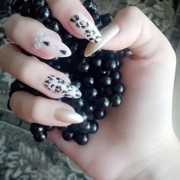 Animal print nails nail art by dragana96
