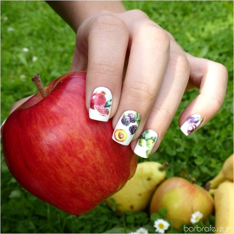 Fruit nails nail art by barbrafeszyn