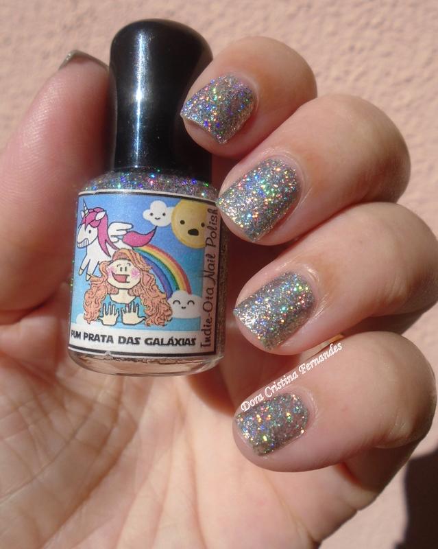 Indie-Ota Nail Polish Pum Prata das Galáxias Swatch by Dora Cristina Fernandes