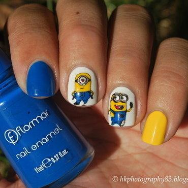 Minions nail art nail art by Hana K.