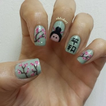 Where to Go? Tokyo! nail art by chleda15
