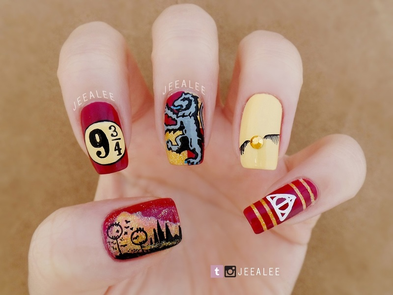 Harry Potter Nails nail art by JeeA Lee
