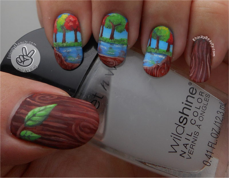 Freehand Tree Love???? nail art by Ithfifi Williams