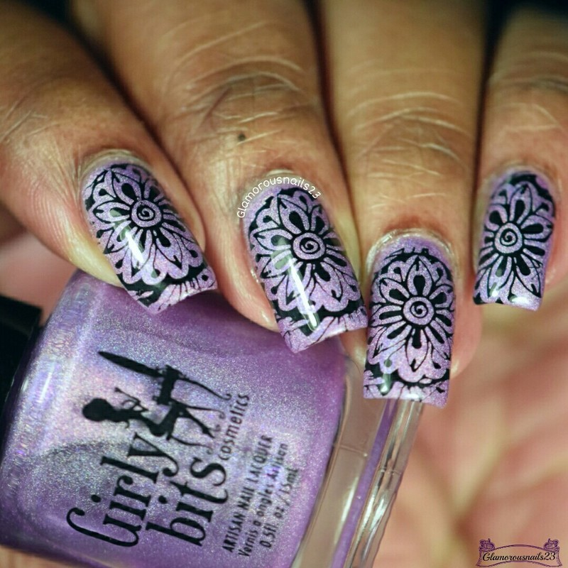 Black Flower Nail Art By Glamorousnails23 Nailpolis Museum Of
