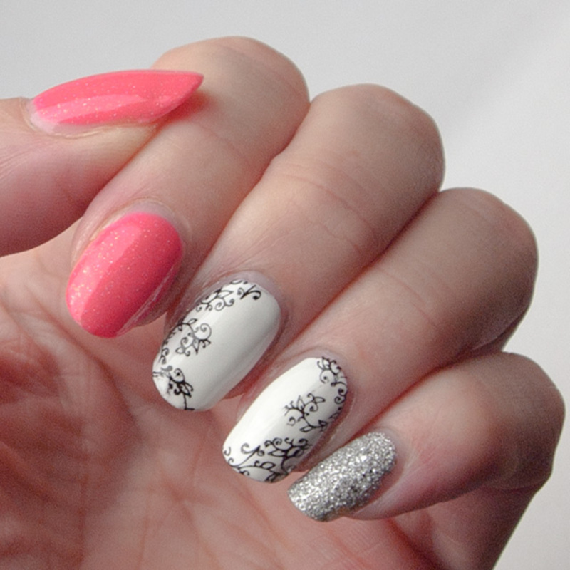 Summer skittlette nail art by What's on my nails today?