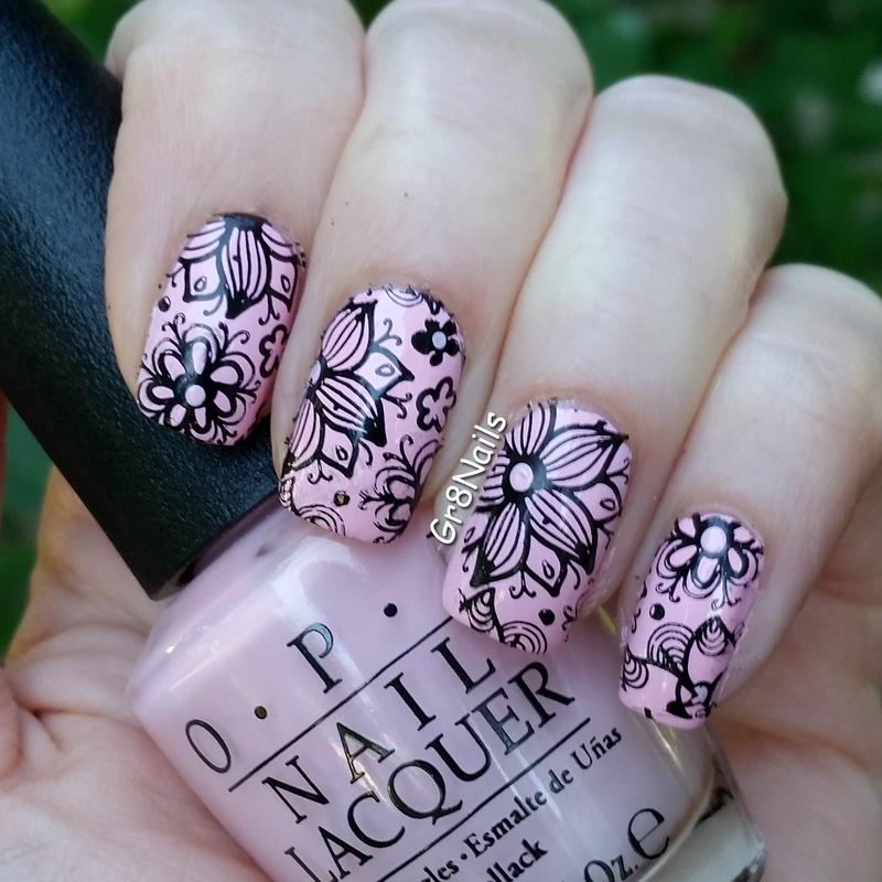 Think Pink nail art by Gr8Nails