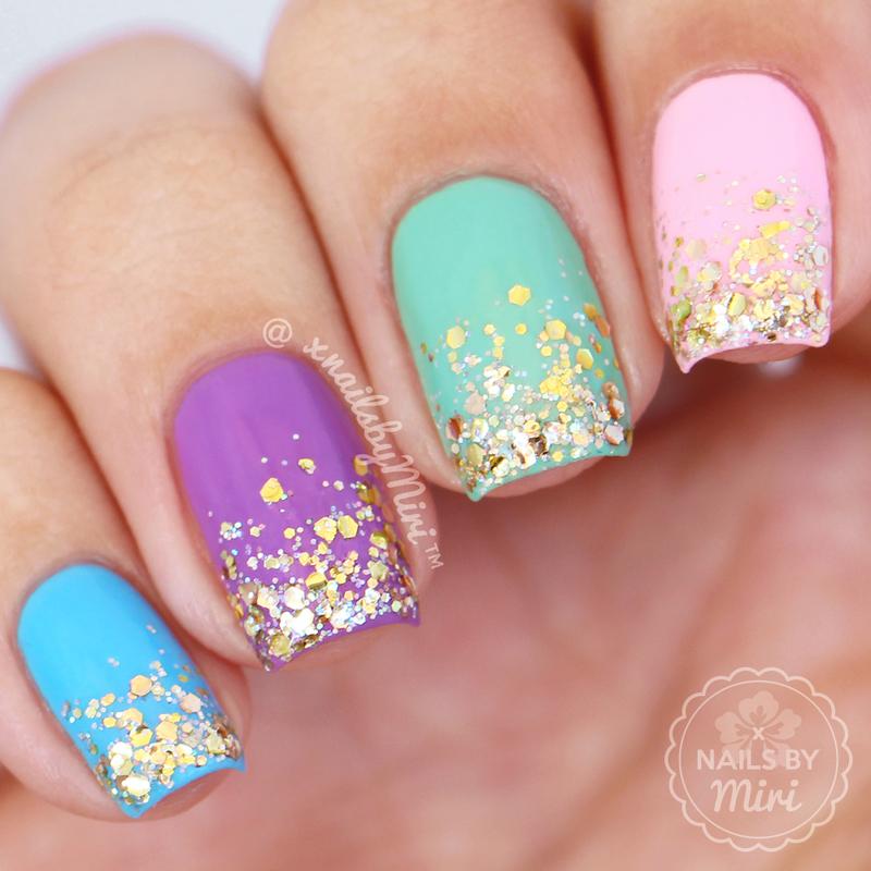 Glitter Gradient nail art by xNailsByMiri