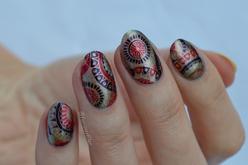 Mandala Nails nail art by Furious Filer