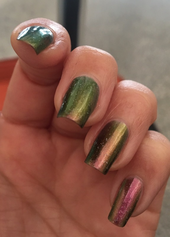 chameleon dreams nail art by Idreaminpolish