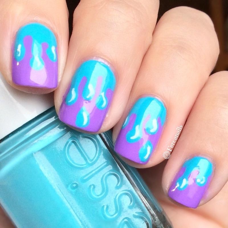 Drips nails nail art by Fercanails