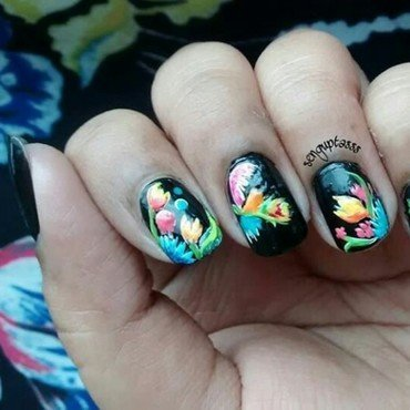 Fabric nail art by Sohini  Sengupta