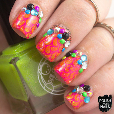 Neon Panic nail art by Marisa  Cavanaugh