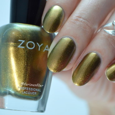 Zoya Aggie Swatch by Furious Filer