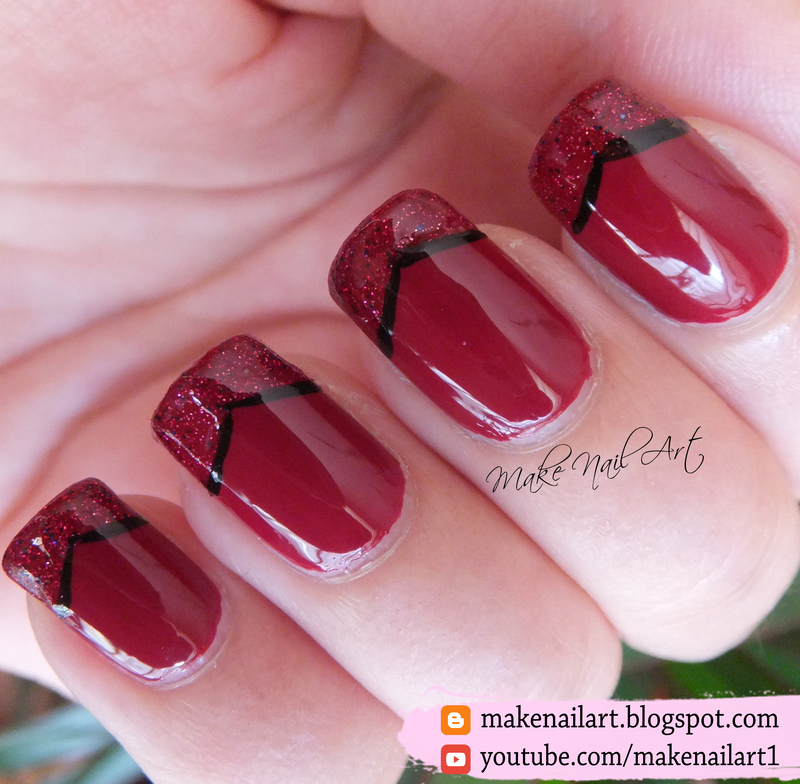 Elegant Red French Manicure Nail Art Design nail art by Make Nail ...