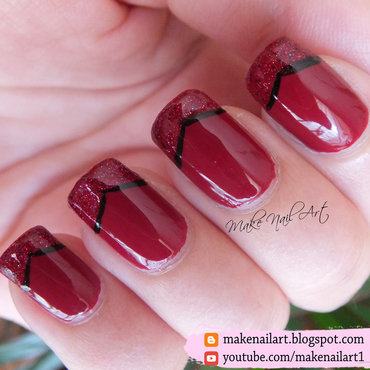 Red 20french 20manicure 20elegant 20nails 20nail 20art 20design 20tutorial thumb370f