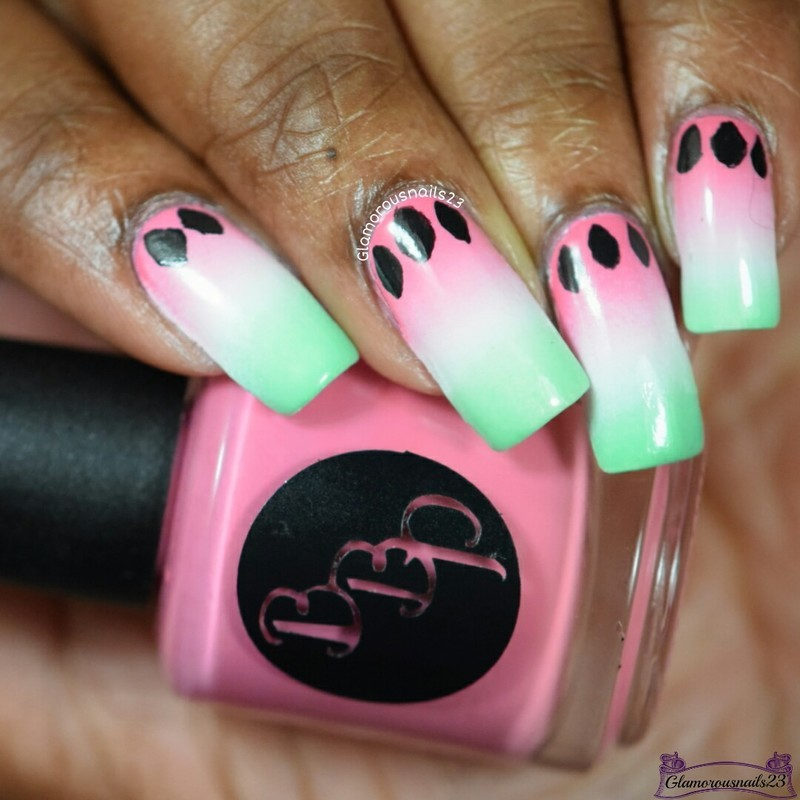 Watermelon Nail Art nail art by glamorousnails23