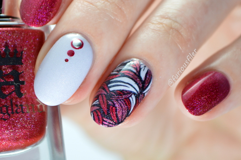 Advanced Stamping with a Sparkle nail art by Furious Filer