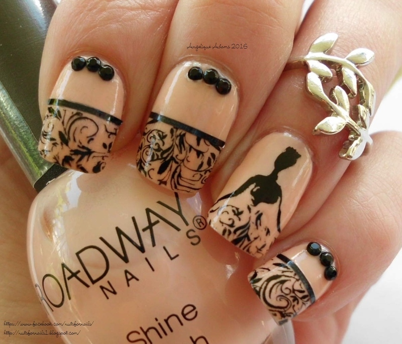 On Broadway  nail art by Angelique Adams