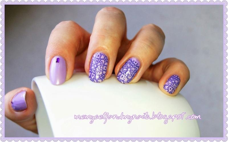 It smells heather nail art by ELIZA OK-W