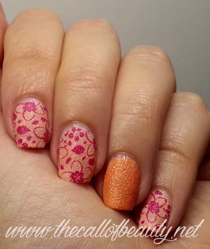 Hibiscus nail art by The Call of Beauty