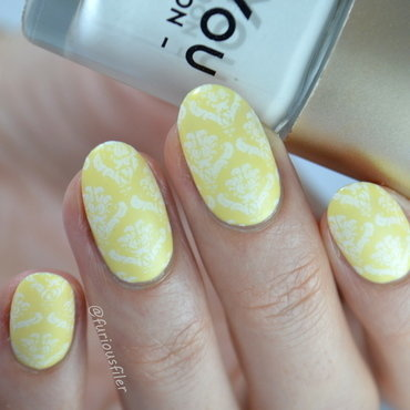 31 Day Challenge: Yellow Damask Nails  nail art by Furious Filer