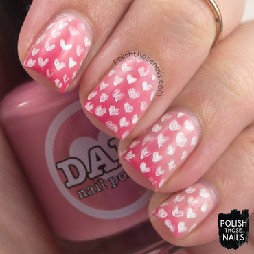 Blushing Hearts nail art by Marisa  Cavanaugh
