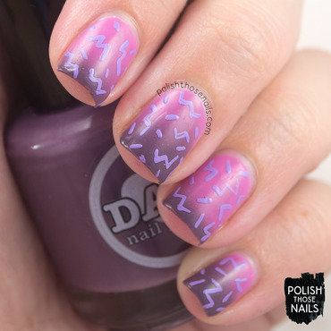 Damn nail polish exotic horizon pink purple thermal 80s nail art 3 thumb370f