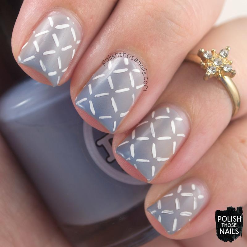 Quilted Skies nail art by Marisa  Cavanaugh