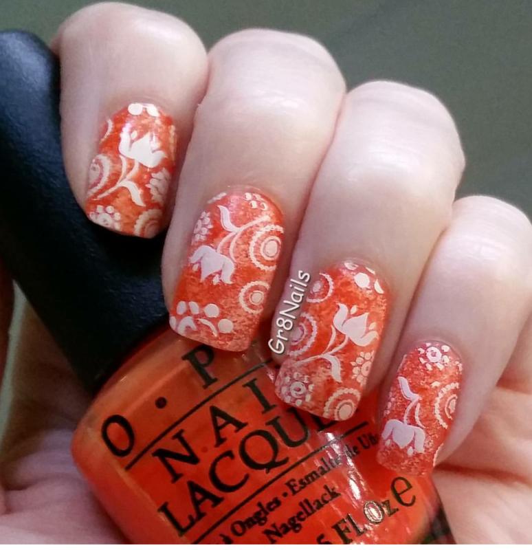Orange Crush  nail art by Gr8Nails