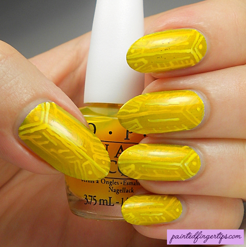 Yellow Jelly Sandwich nail art by Kerry_Fingertips