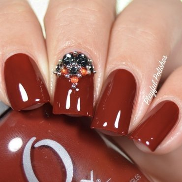 31DC2016 - Day 1, Red Nails nail art by Playful Polishes