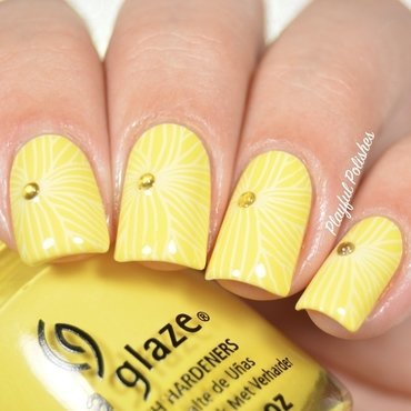 31DC2016 - Day 3, Yellow Nails nail art by Playful Polishes