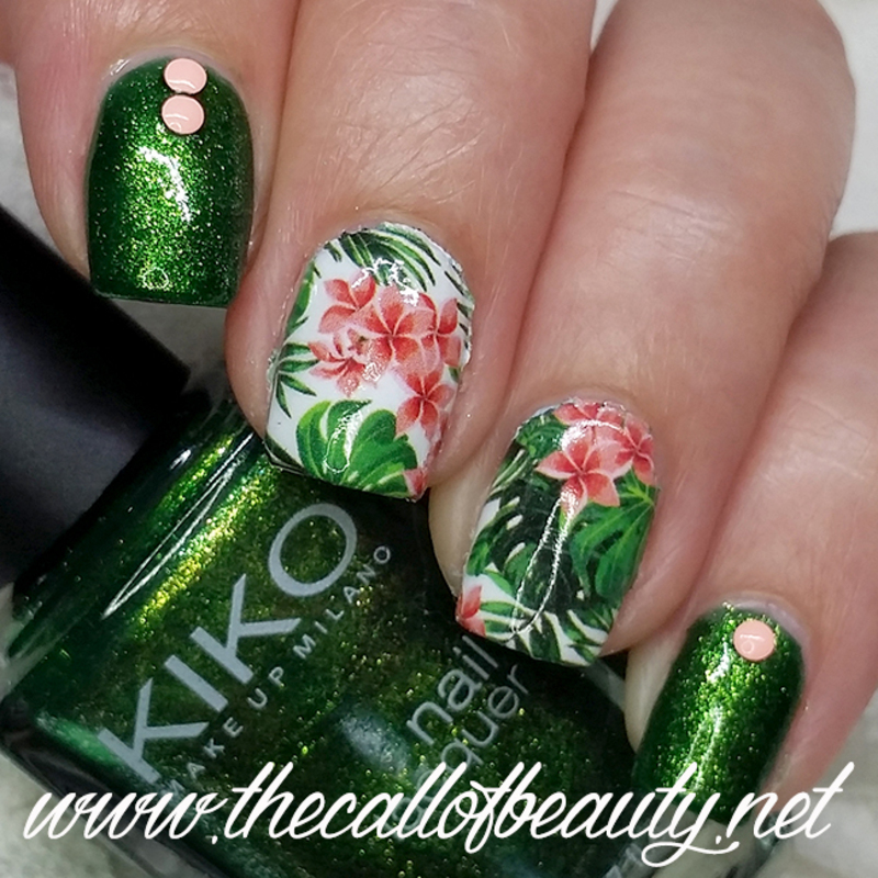 Tropical Jungle nail art by The Call of Beauty