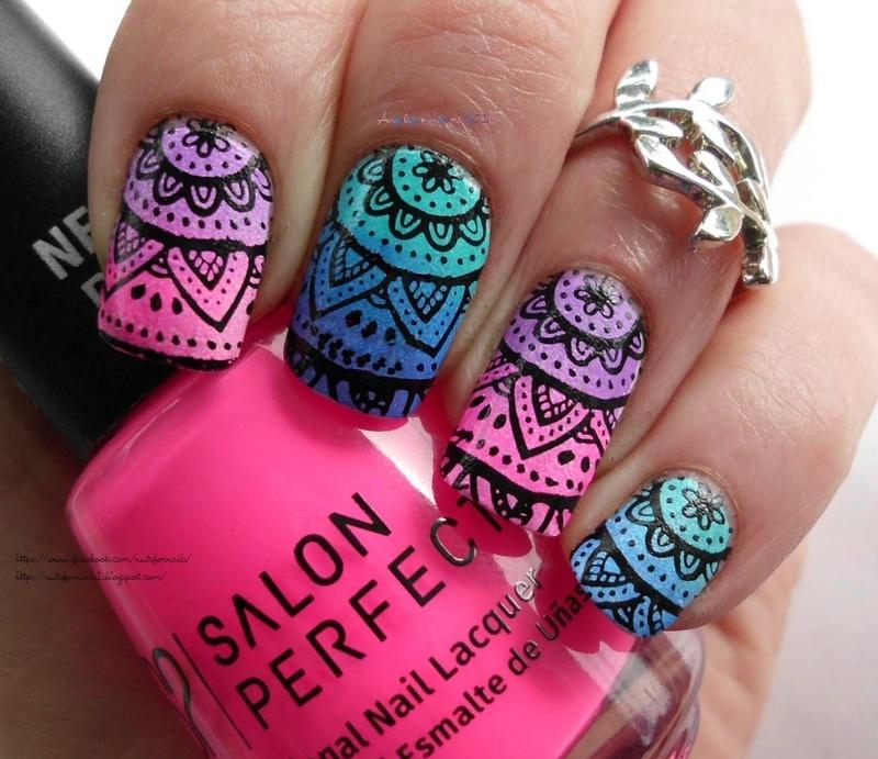 Nail Art Henna: Henna Nails Nail Art By Angelique Adams