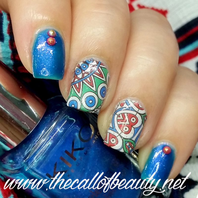 Doodles nail art by The Call of Beauty