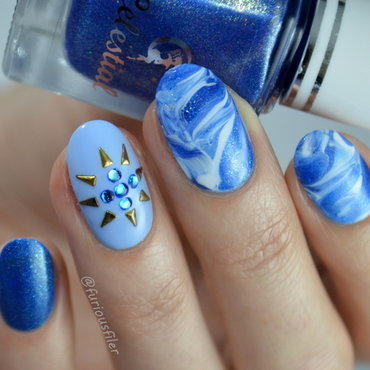 31 Day Challenge: Blue Nails nail art by Furious Filer