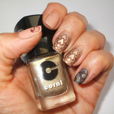 I love coffee nail art by only real nails.
