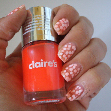 Orange pond mani nail art by only real nails.