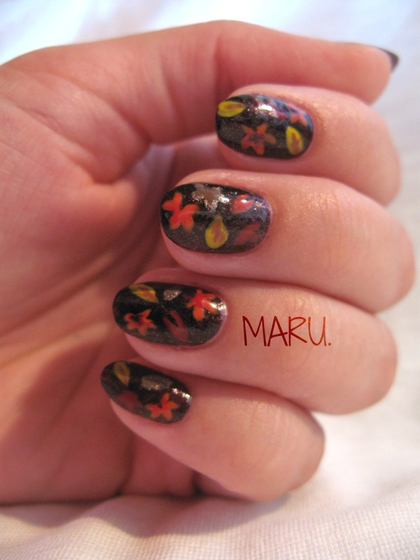 Autumn nail art by Martina